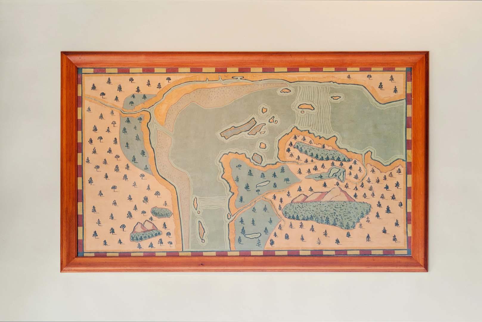 Carte du site de Montréal par Champlain en 1611, Paul-Émile Borduas