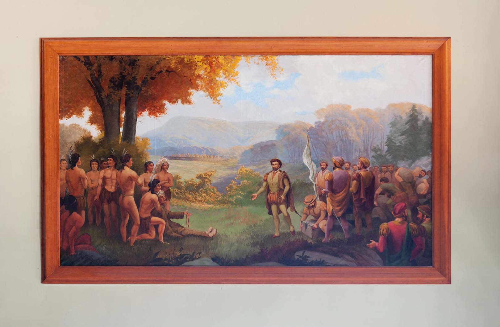Jacques Cartier est reçu par le chef Agouhana, Lucien Boudot, Fernand Cerceau