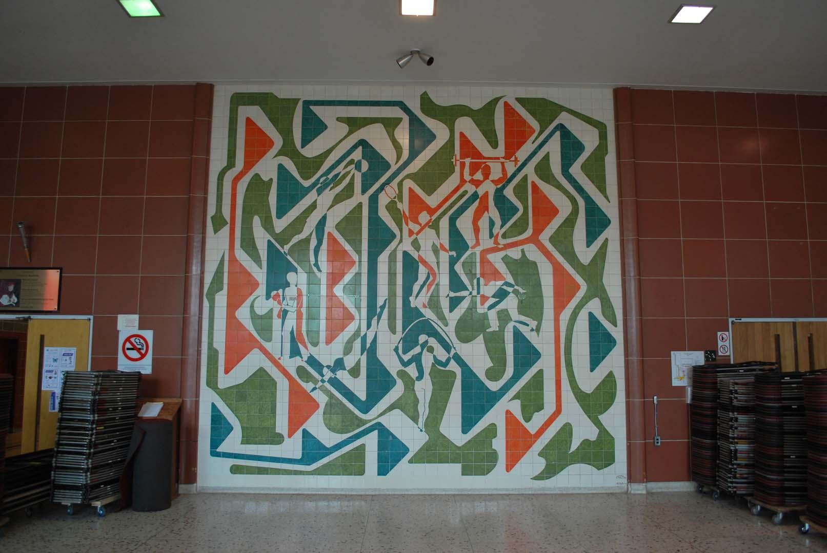 Non titré (mosaïque en céramique), Jean Cartier