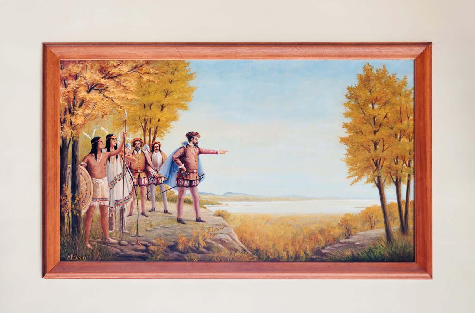 Jacques Cartier sur le sommet du mont Royal, Alfred Faniel