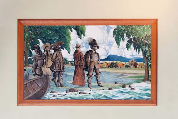 Champlain explore le site de Montréal en 1603, Marc-Aurèle Fortin