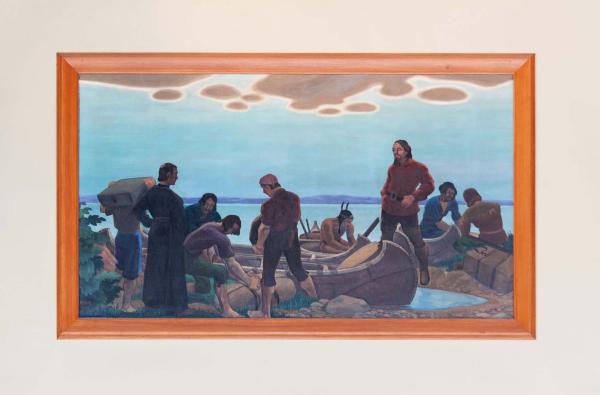 Départ de La Salle pour aller à la découverte du Mississipi, Edwin H. Holgate