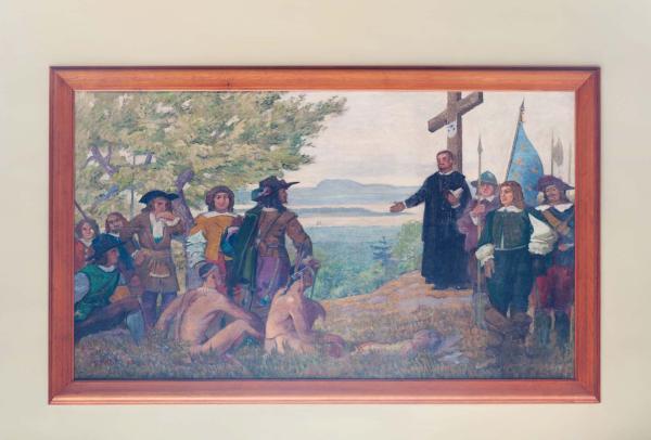 Maisonneuve érige une croix sur la montagne, Robert Pilot