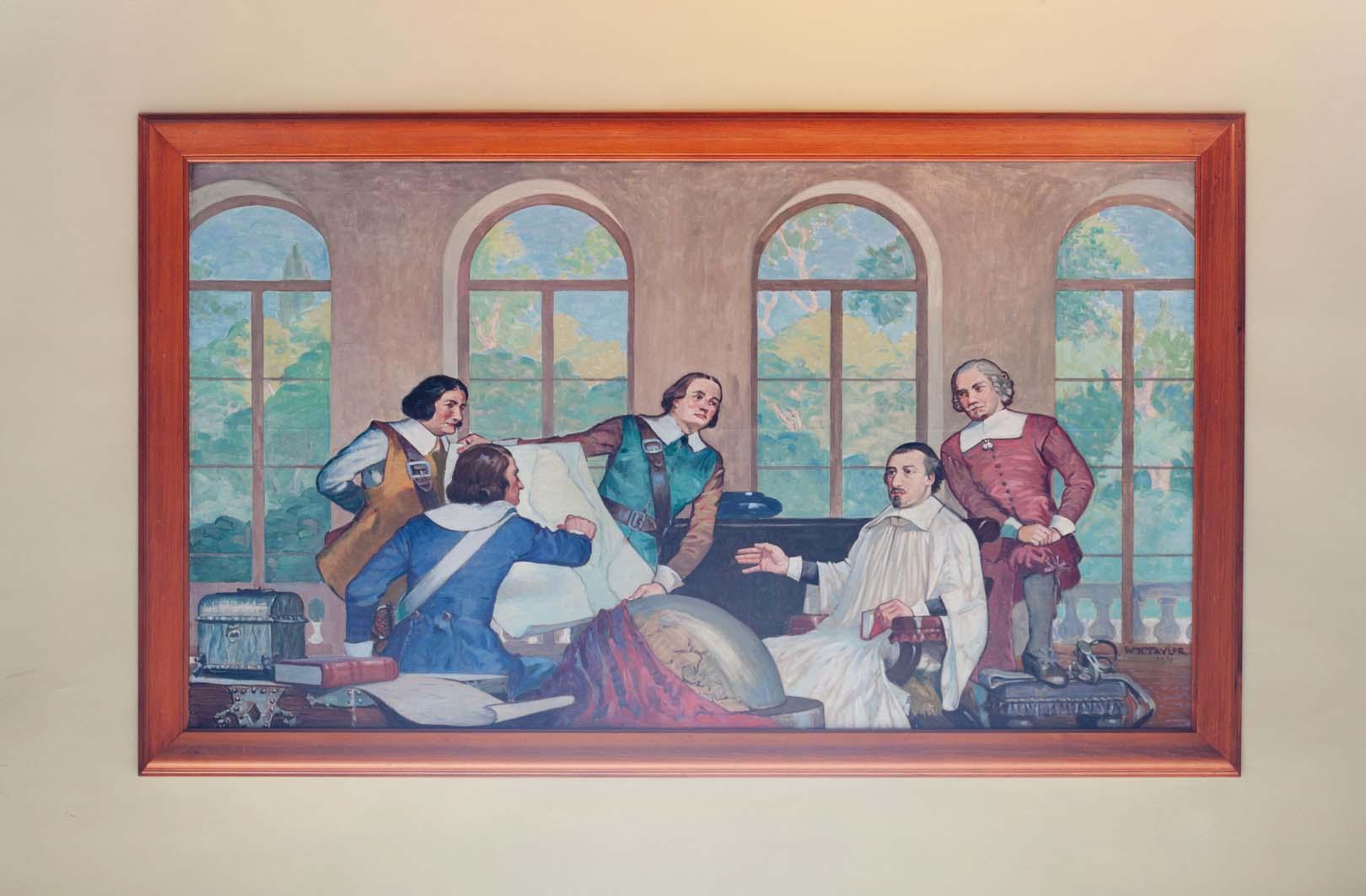 La fondation de Montréal est décidée à Paris, William Hughes Taylor