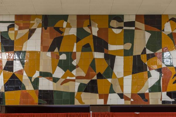 Murale céramique, Claude Théberge, Marcel Gendreau