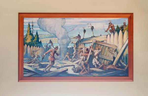 Dollard des Ormeaux meurt à Long-Sault pour sauver la colonie, William Thurston Topham